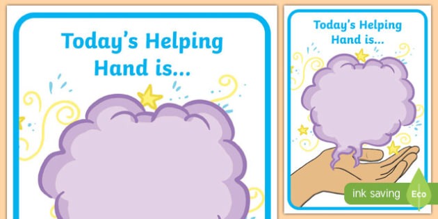 Today's Helping Hand Is Poster - today, helping hand, poster, display, help, helper