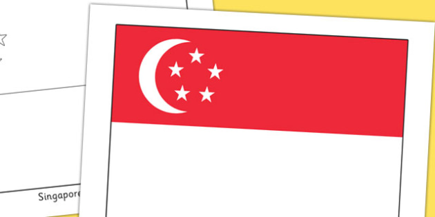 Singapore Flag Display Poster - countries, geography, flags