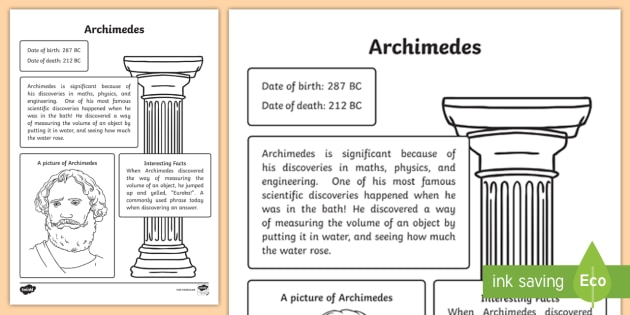 5 facts about archimedes