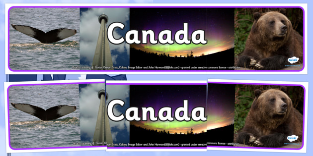 Canada Photo Display Banner - Canada, Display Banner, Photo Banner, Canada Display Banner, Canadian Banner, Themed Banner