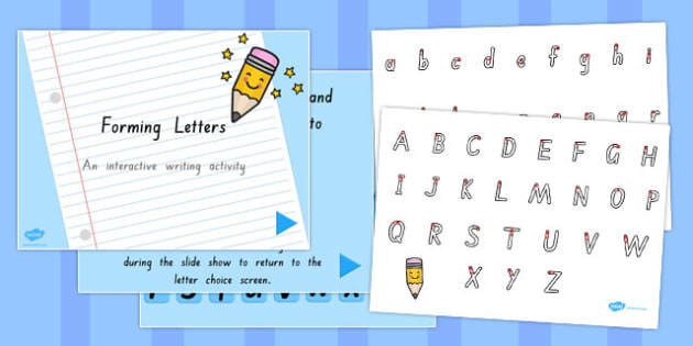 Letter Formation Sheet and PowerPoint Pack SA - australia, letter formation