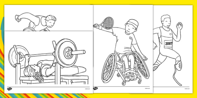 Paralympic Games Coloring Pages (teacher Made)