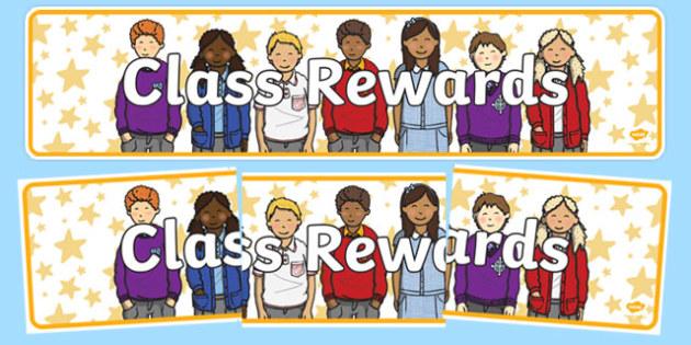 Class Rewards Display Banner - class rewards, display, banner, display banner, display header, themed banner, header, banner for display, header display