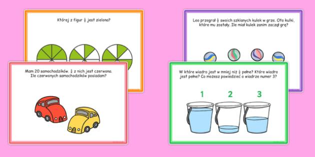 Karty z wyzwaniami Ułamki po polsku - matematyka