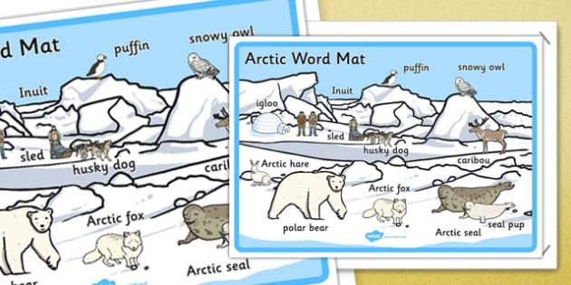 arctic scene word mat