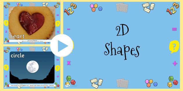 EYFS 2D Shapes Photo PowerPoint - shape, numeracy, maths, 2D