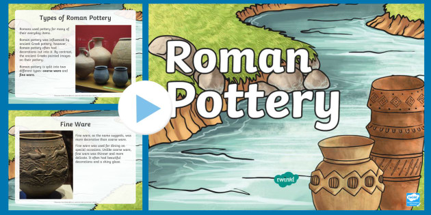 Ks2 Roman Pottery Information Powerpoint Amphora Kitchen