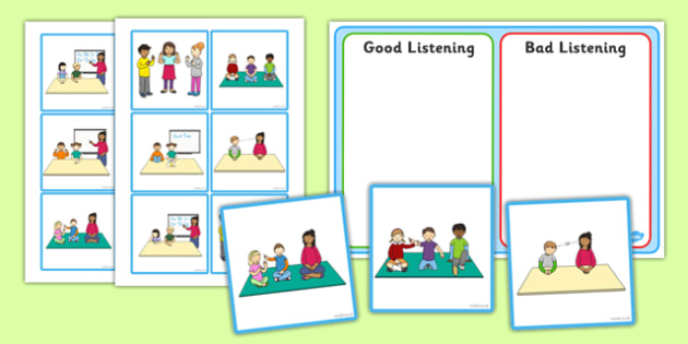 Good Listening Sorting and Discussion Cards - good listening, sorting, discussion, cards