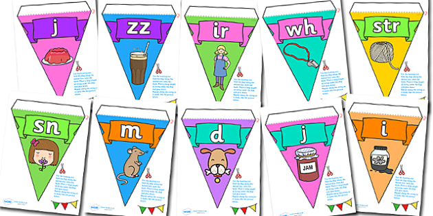 Phase Display Bunting Pack - phase, bunting, themed bunting, display bunting, display, bunting flags, flag bunting, cut out bunting, paper bunting, display