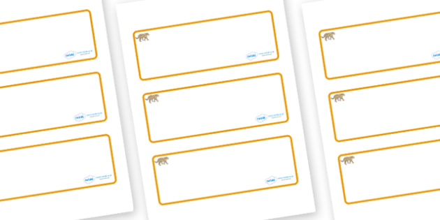 Leopard Themed Editable Drawer-Peg-Name Labels (Blank) - Themed Classroom Label Templates, Resource Labels, Name Labels, Editable Labels, Drawer Labels, Coat Peg Labels, Peg Label, KS1 Labels, Foundation Labels, Foundation Stage Labels, Teaching Labe