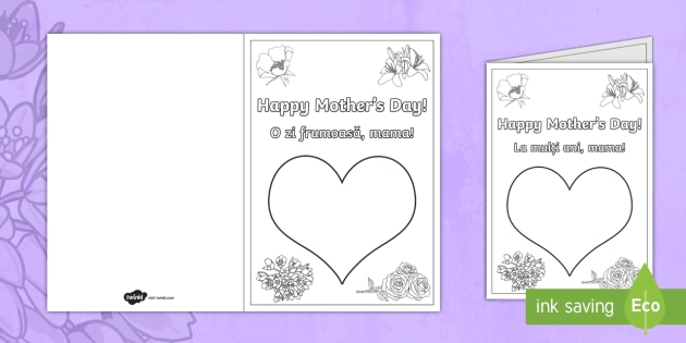 Mother's Day Fingerprint Cards - English / Romanian - NI Mother's Day card, greeting cards, mother's day, mothering sunday, finger paint, finger paintin