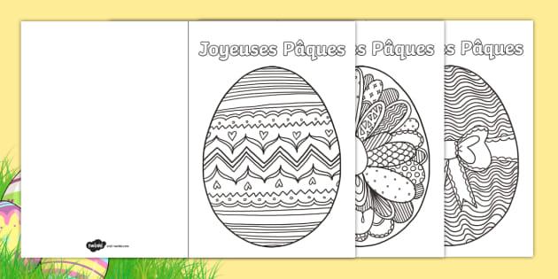 Coloriage De Paques Cycle 2.Coloriages Anti Stress Cartes De Paques Anglais Lv Langues