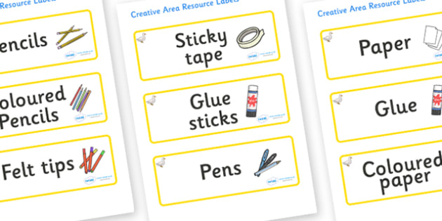 Duck Themed Editable Creative Area Resource Labels - Themed creative resource labels, Label template, Resource Label, Name Labels, Editable Labels, Drawer Labels, KS1 Labels, Foundation Labels, Foundation Stage Labels