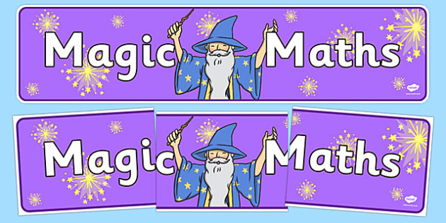 Magic Maths Area Display Banner Purple - maths, numeracy, banner