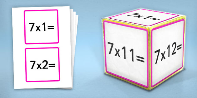 Giant Foam Dice Squares 7 Times Tables - foam dice, squares, 6