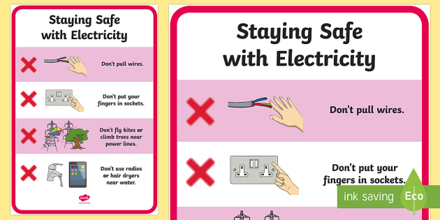 Electricity Safety Poster Ks2