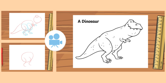 how to draw a dinosaur video