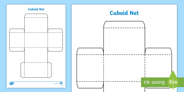 3D Net for Cuboid - cuboid, net, shape, 3D, cut out, maths, 3D