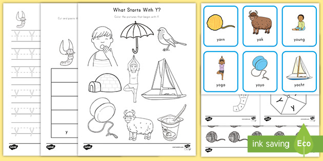 Letter Y Worksheet And Activity Pack Alphabet Ela