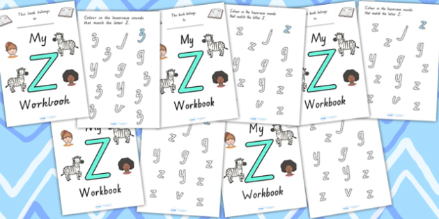 My Workbook Z Uppercase - letter formation, fine motor skills