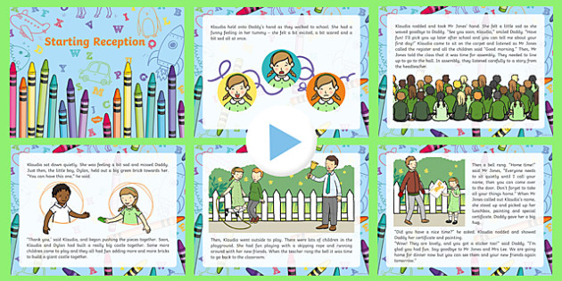 EYFS Starting Reception Editable PowerPoint Story