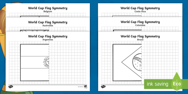 ks2 football world cup symmetry worksheets world cup sports. Black Bedroom Furniture Sets. Home Design Ideas