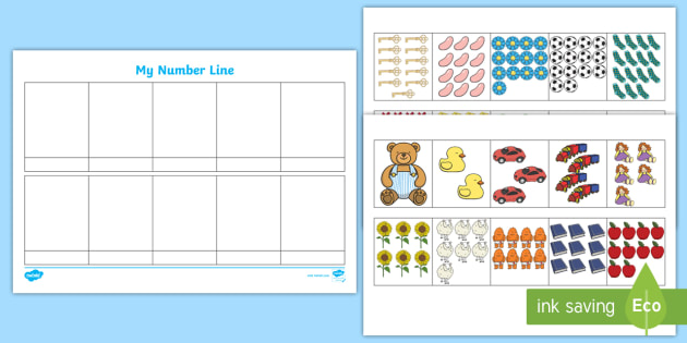 Make Your Own Number Line Resource Pack - make, own, number line, resource, pack