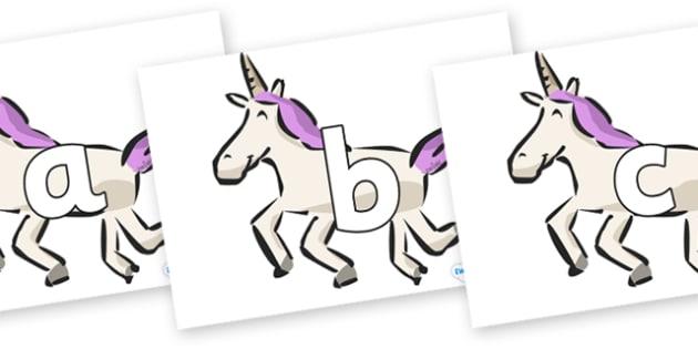 Phoneme Set on Unicorns - Phoneme set, phonemes, phoneme, Letters and Sounds, DfES, display, Phase 1, Phase 2, Phase 3, Phase 5, Foundation, Literacy