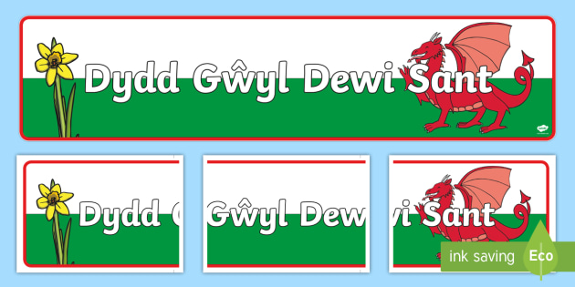 St David's Day Display Banner - Display border, border, display, Dewi sant, St David, daffodil, Wales, cymru, leek, parade, patron saint,welsh