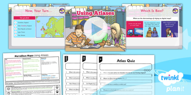 Geography: Marvellous Maps: Using Atlases Year 5 Lesson Pack 1