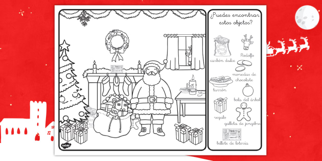 Ficha de actividad: Busca los objetos navideños - navidad