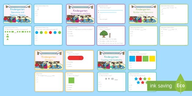 picture about Kindergarten Math Assessment Printable titled Kindergarten Printable Math Job Playing cards Pack - math