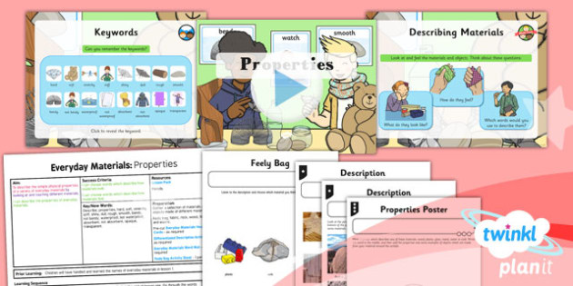 Science: Everyday Materials: Properties Year 1 Lesson Pack 3