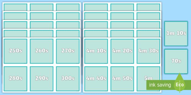 NEW * Seconds to Minutes Matching Cards - Miscellaneous Maths