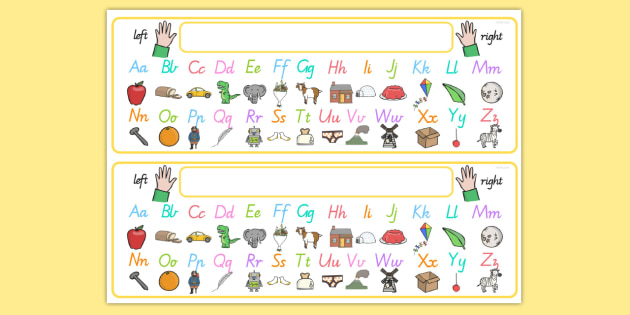 FREE! - Alphabet Desk Strip With Pictures - a-z, visual ...