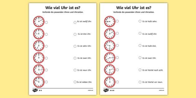 Telling Time in German