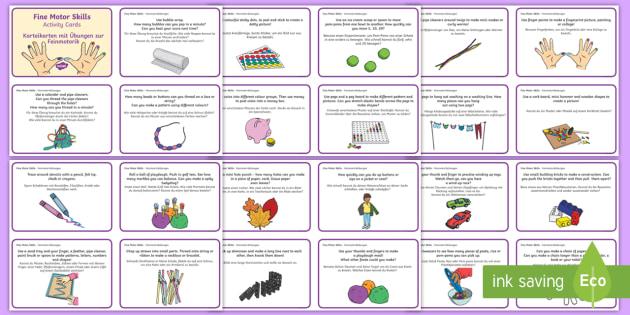 fine motor skills activity cards english german eal german challenges. Black Bedroom Furniture Sets. Home Design Ideas