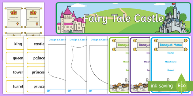 Fairytale Castle Role Play Pack - Role Play Pack - Fairytale Castle Role Play Pack, fairytale castle, princess, prince, knight, king, queen, banquet, ball, invites, shields, castle, tale, role play, display, poster, role play, Display signs, display,