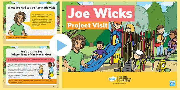* NEW * KS1 BBC Children in Need Joe Wicks Project Visit
