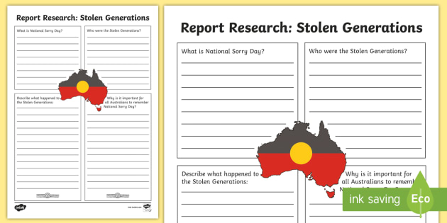 National Sorry Day Information Report Writing Template - Template for information report