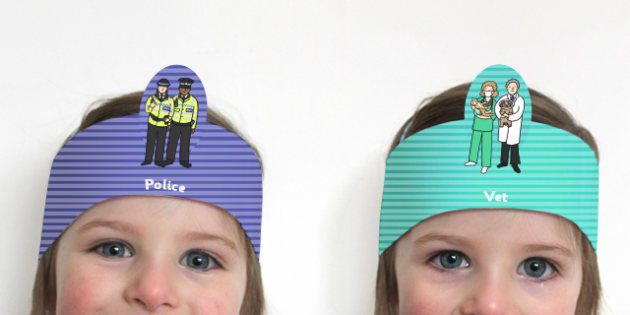 People Who Help Us Themed Role Play Headbands - roleplay, props