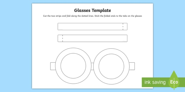 free glasses template glasses template role play craft activity rh twinkl co uk
