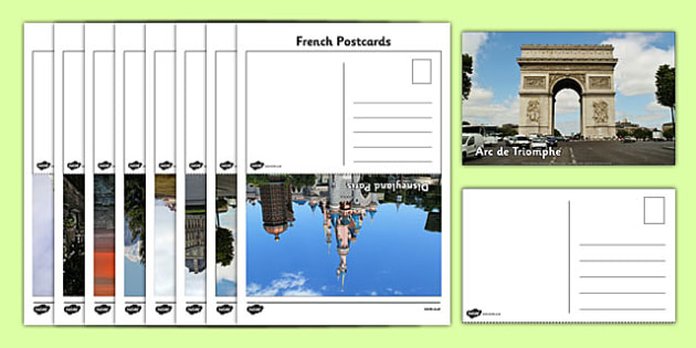 French Postcards - french, postcards, communication, travel, activity, france, landmarks