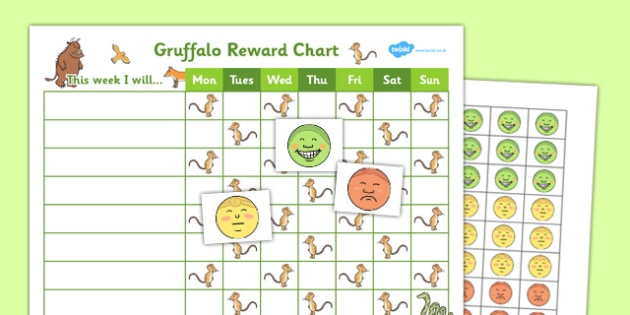 Reward Sticker Chart gruffalo reward sticker chart – Sticker Chart