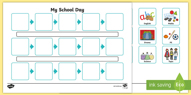 Individuals Visual Timetable Template  Individual Visual