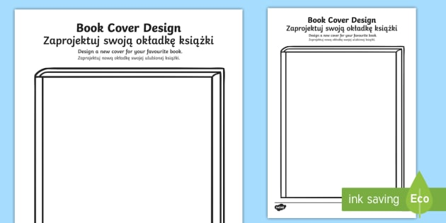 Book Cover Design Your Own : New design a book cover activity sheet english polish