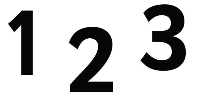 0-9 Display Numbers (Black) - Display numbers, 0-9, numbers, display numerals, display lettering, display numbers, display, cut out lettering, lettering for display, display numbers