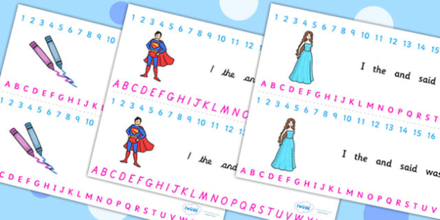 Combined Alphabet and Number Strips (Toys) - Toys, Alphabet, Numbers, Writing aid, robot, doll, skateboard, games console, dice, jigsaw, games, dominos, marbles, pogo, doll