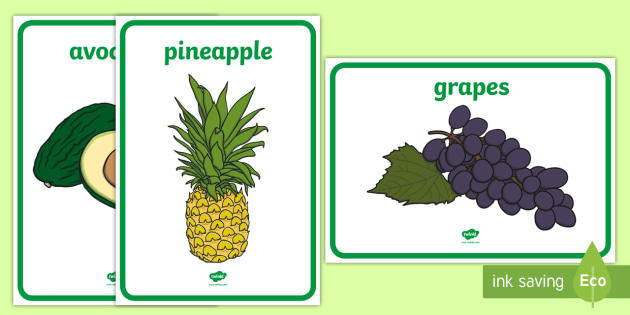 editable fruit and vegetable display posters