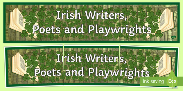 Irish Writers, Poets and Playwrights Display Banner Display Banner Display Banner-Irish